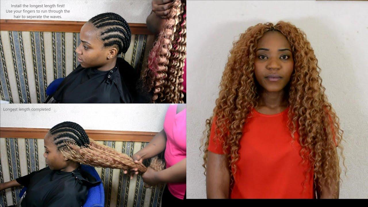 Beyonce Style Deep Twist Crochet Braids Colour 27 30 Youtube