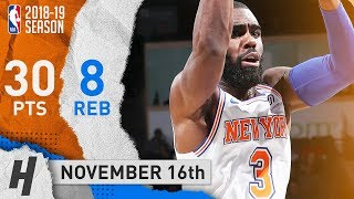 Tim Hardaway Jr. Full Highlights Knicks vs Pelicans 2018.11.16 - 30 Points, 8 Reb