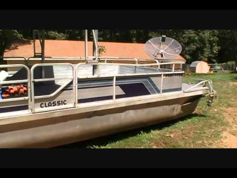 28ft lowe pontoon boat w 115hp mercury dual axle trailer for Pontoon boat without motor for sale