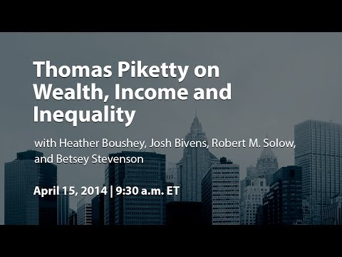 Thomas Piketty on Wealth, Income and Inequality