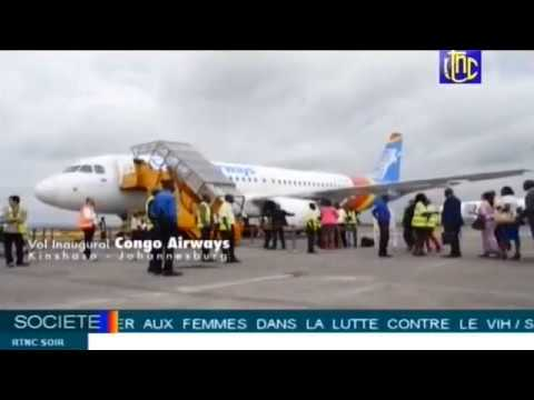 Kinshasa-Johannesburg: 1er vol international de Congo Airways