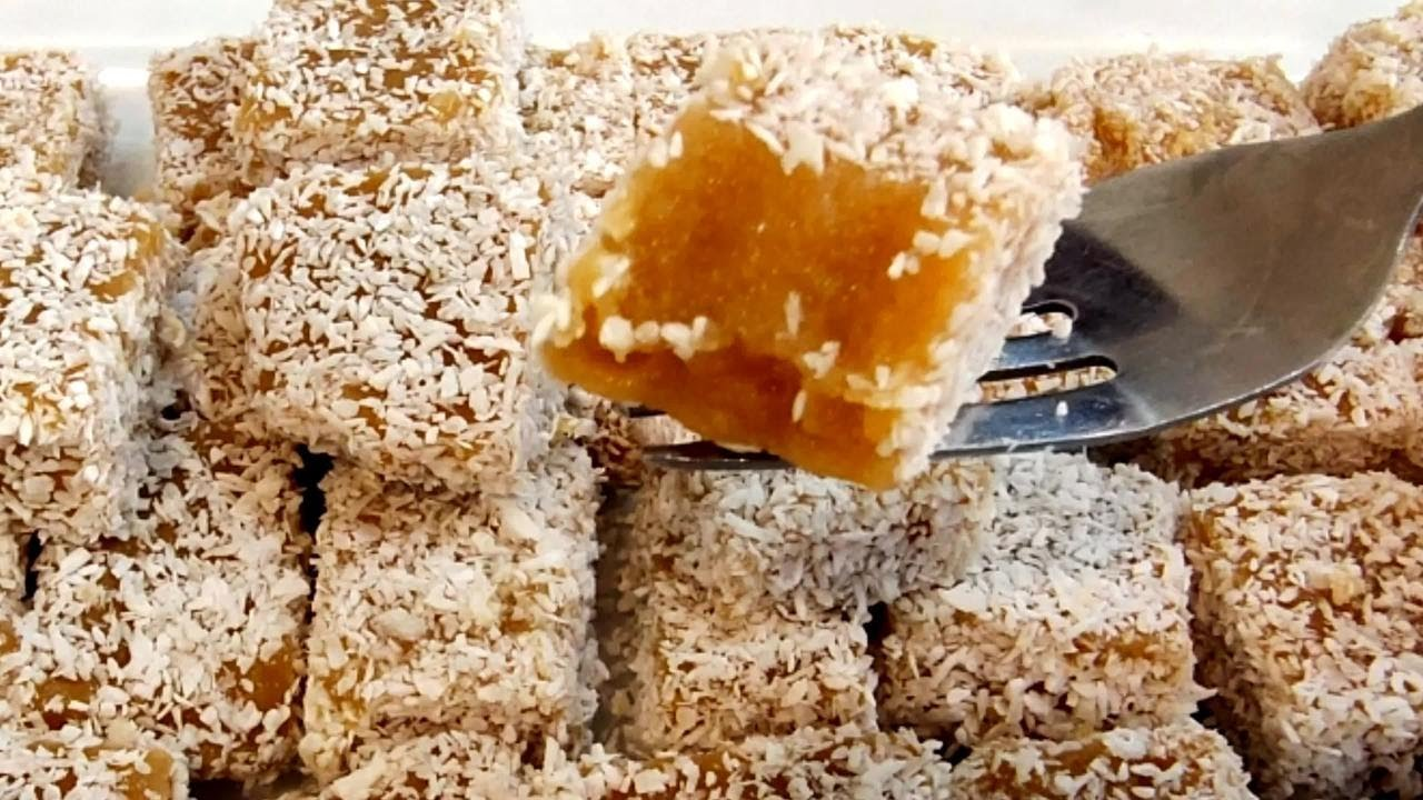 苹果加牛奶做成小方糕,原来可以这么好吃,口感Q弹,酸甜适中【俊宝美食】