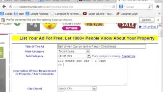Post free advertisement from any city in India online