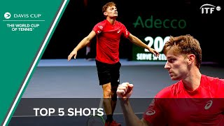 David Goffin's Top 5 Shots | Davis Cup