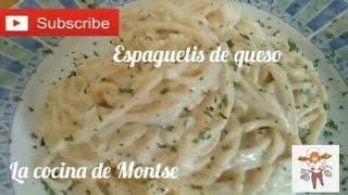 Espaguetis en salsa de queso ¡Con MENOS calorías SIN NATA, maicena. RECETAS FACILES RAPIDA ECONOMICA