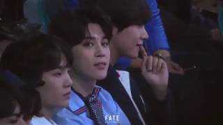 180520 BBMAs Jimin reaction to Ariana Grande 'No Tears Left To Cry'