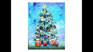 Как нарисовать Новогоднюю елку поэтапно гуашью. Видео уроки рисования для детей 4-8 лет(Как нарисовать Новогоднюю елку поэтапно гуашью. Видео уроки рисования для детей 4-8 лет. https://vk.com/risovan_diya..., 2016-12-16T11:00:03.000Z)