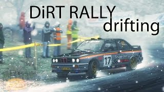 DiRT Rally - drifting BMW M3 E30 Evo @ snow stage in Monte Carlo stage, (Full HD) 2015.