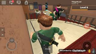 Playing murder mystery2 on roblox