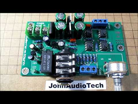 Headphone preamp board kit test & review