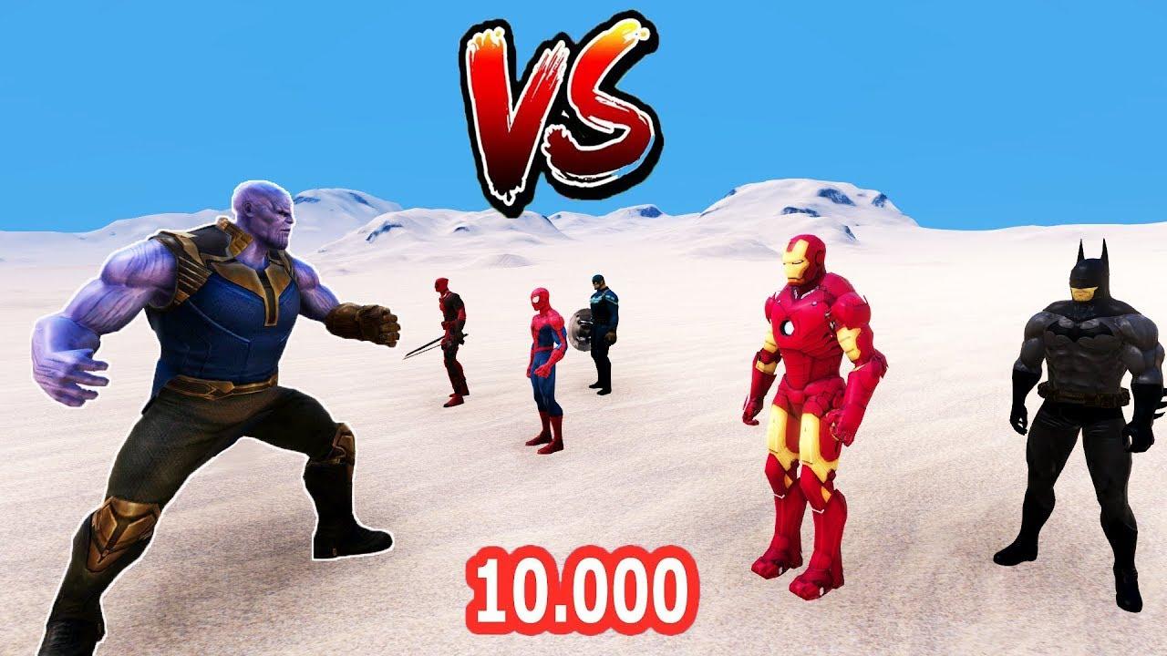 THANOS VS 10.000 SÜPER KAHRAMAN ? Süper Kahraman Savaşı