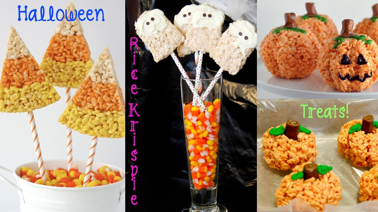 recipe review halloween rice krispie treats pumpkins ghosts candy corn youtube