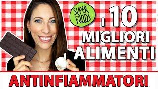 🚒 I 10 Migliori Alimenti Antinfiammatori 🔥 ovvero i Super Foods da inserire nella tua alimentazione.
