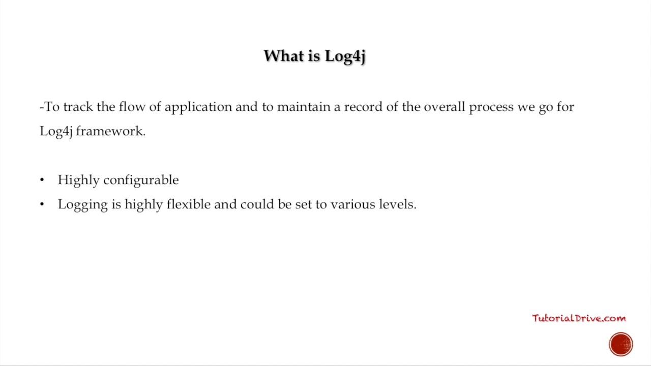 What is log4j log4j tutorial youtube what is log4j log4j tutorial baditri Image collections