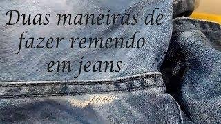 Como fazer remendo em jeans com máquina de costura