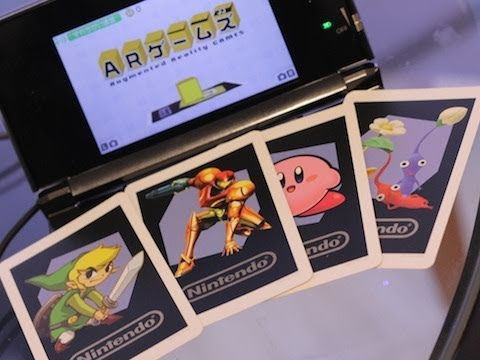 Samus, Link, Kirby and Pikmin in Augmented Reality for Nintendo 3DS
