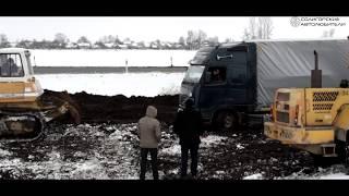 Местные помогли застрявшему польскому дальнобойщику.