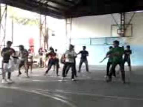 the STI balayan dance troop,.(rehearsal)