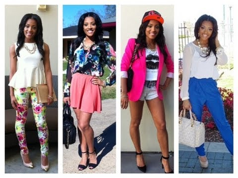 Spring Fashion Lookbook My Style Youtube