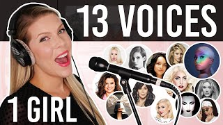 Download 1 GIRL 13 VOICES (Ariana Grande, Lady Gaga, Selena Gomez, Cher and many more) Mp3 and Videos