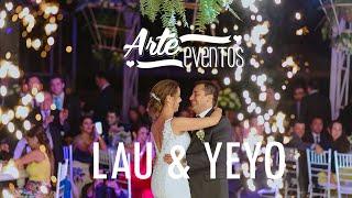 Arte Eventos - Matrimonio Laura y Sergio - Bodas espectaculares