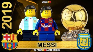 Lionel Messi wins Ballon D Or 2019 All 30 Top Players by France Football in Lego Football