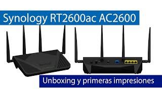 Synology RT2600ac: Unboxing de este router doble banda AC2600