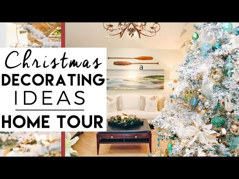Christmas Decorating Ideas Home Tour Winter Wonderland Youtube