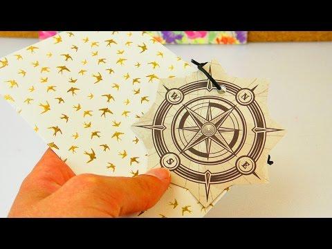 Karte gestalten zum Abschied | Verabschiedung mit einer hübschen Karte | Basteln mit Papier