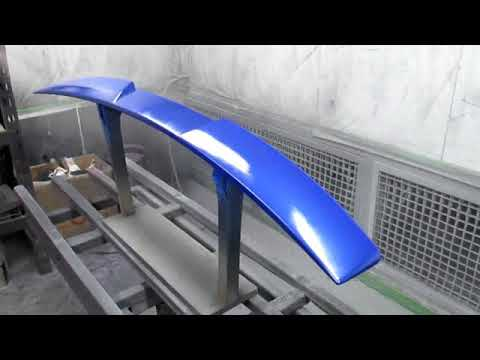 Subaru WRX 15+ Spray Painting Footage Roof Spoiler Front lip Side Skirts
