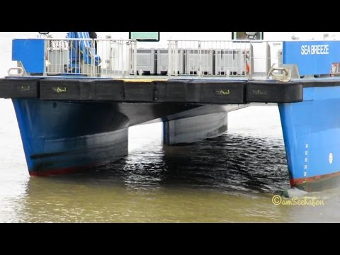 offshore tender SEA BREEZE OUWS2 IMO 9672923 Emden speedboat timelapse