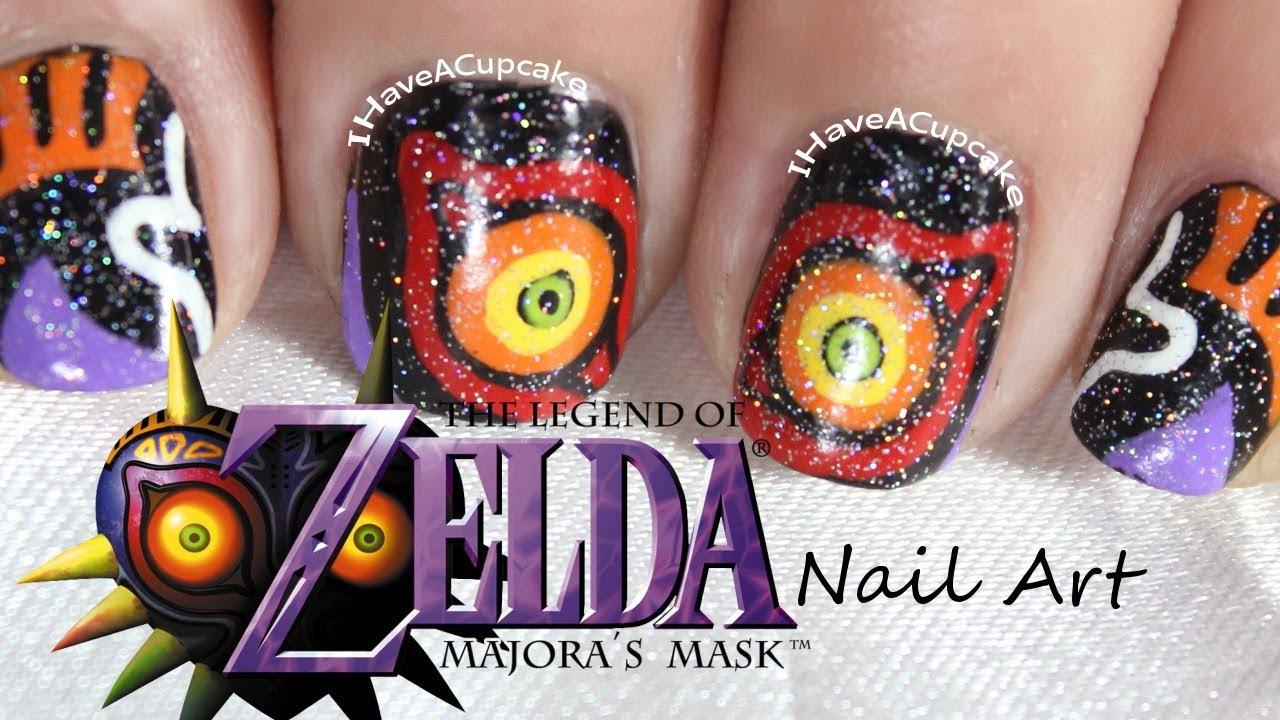 Majora S Mask Nail Art Youtube