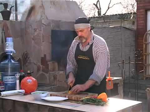 Стерлядь с овощами в фольге