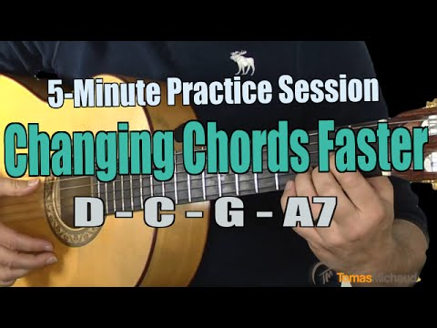 5-Minute Practice Session - Exercise to Change Chords Faster D, C, G ...