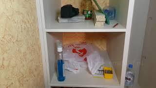 маскировка щели между шкафом и стеной