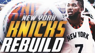 BLOCKBUSTER TRADE?! REBUILDING THE NEW YORK KNICKS! NBA 2K20