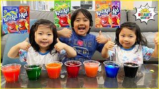 Ryan coloring Easter eggs with Kool-aid! Fun DIY Kids activities!