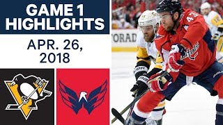 NHL Highlights | Penguins vs. Capitals, Game 1 - Apr. 26, 2018