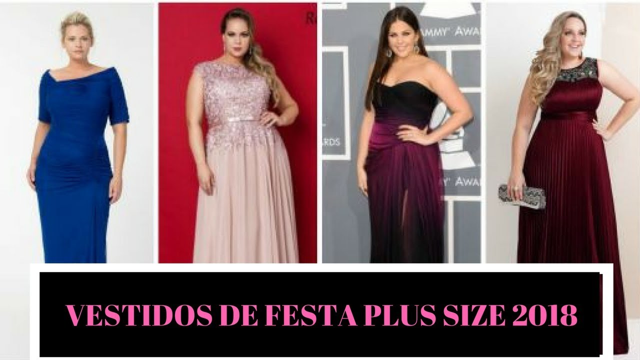 d44b1a9aa Vestido Plus Size 2018 Modelos Para Usar em Festas. Vestidos Plus Size