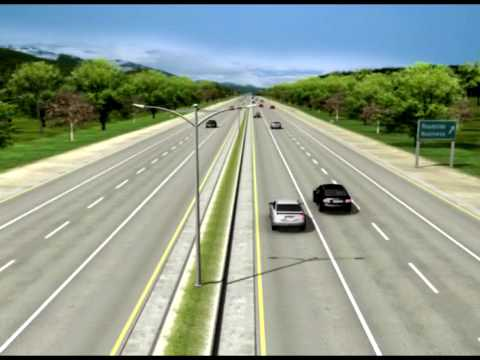 Highway Animation, Freeway Animation, 3d highway