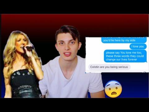 Celine Dion LOVE LYRICS *awkward* Prank on Ex&Current Girlfriend