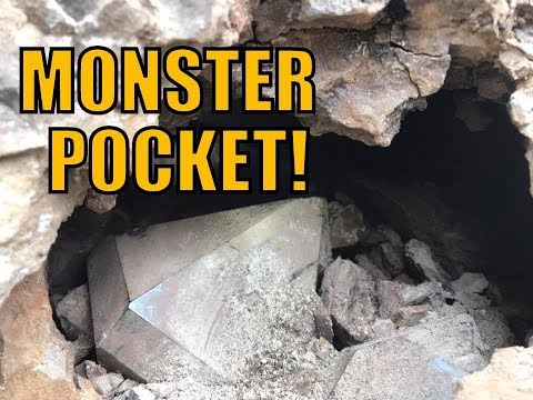 Mining a Pocket of Huge Herkimer Diamonds 09/01/19