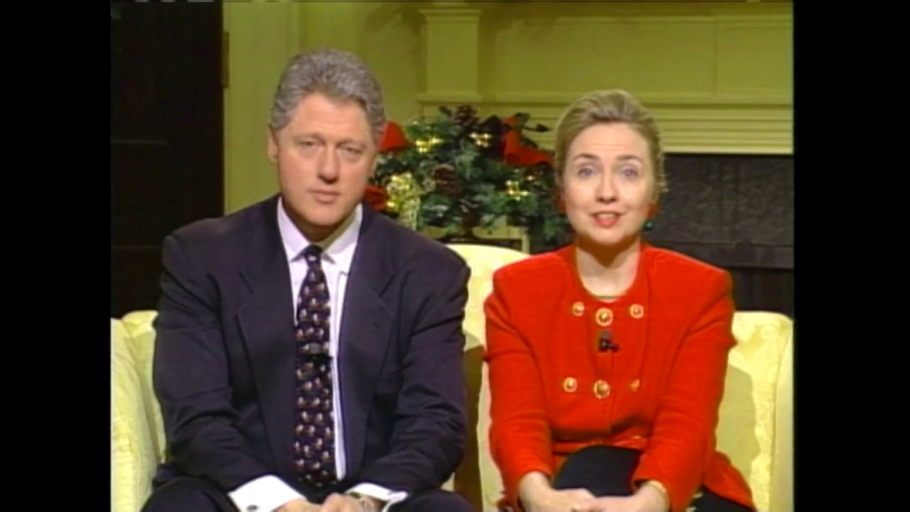 Hillary Clinton Christmas.Bill And Hillary Clinton 1995 Christmas Message