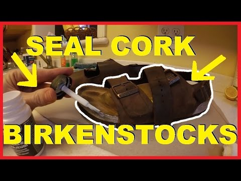 1032ad8321bd How To Seal   Clean your Birkenstock Cork Sandals -Jonny DIY - YouTube