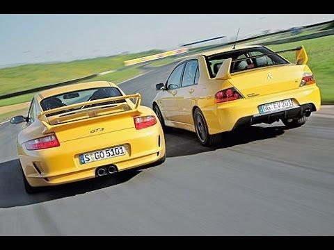 Mitsubishi Lancer EVO 9 vs Porsche Carrera S - DRAG RACE!!!