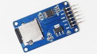 Подключаем модуль Micro SD к Arduino и выводим содержимое файла