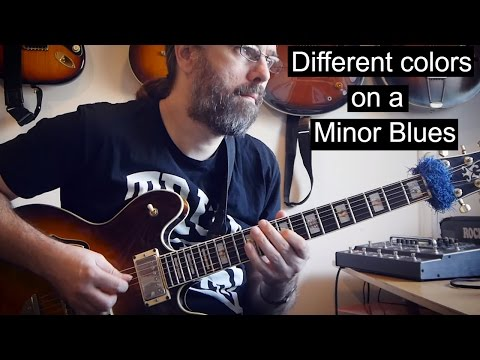 Exploring Minor Blues Options - Melodic minor, Dorian etc.
