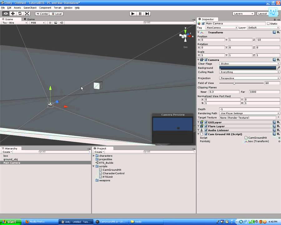 unity3d raycasting hit location lesson for rts