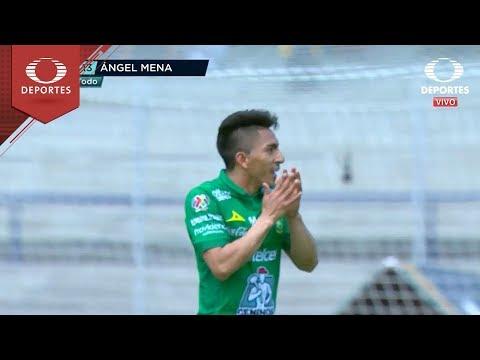 Gol de Ángel Mena    Pumas 0 - 2 León   Clausura 2019 - J 8   Televisa Deportes