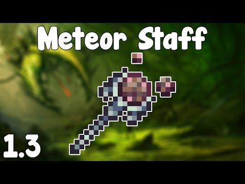 Terraria 1.3 - Meteor Staff , Rain Space Rocks! - Terraria 1.3 Guide New Magic
